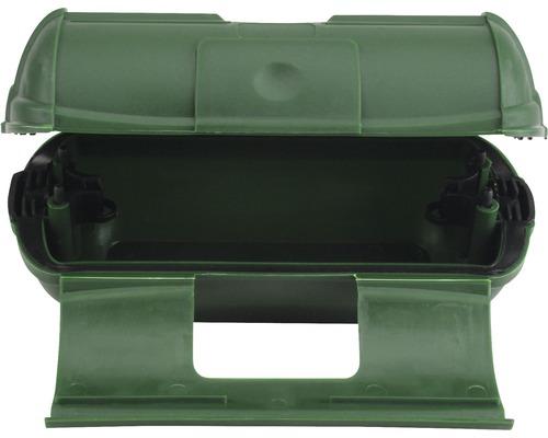 Safe-Box IP44 pour prise + connecteur vert