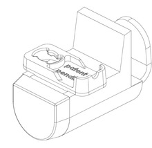 Support de serrage pour store plissé sur mesure BASIC blanc-thumb-2