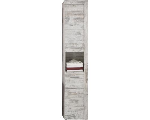 Armoire haute Cancun 36 cm pin blanc