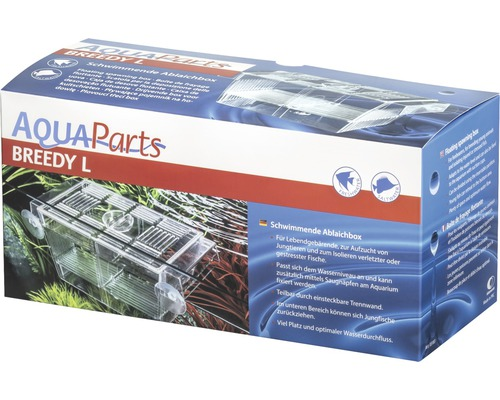 Pondoir pour poisson AquaParts Breedy L flottante 22,7 x 9,3 x 9,6 cm