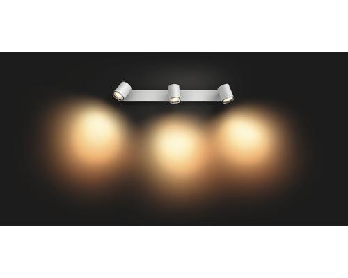 Philips hue LED Deckenspot IP44 2x5W 2x350 lm warmweiß-tageslichtweiß HxBxT 90x366x120 mm inkl Dimmschalter Adore weiß White Ambiance - Kompatibel mit SMART HOME by hornbach