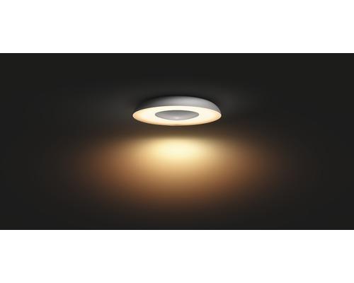 Plafonnier LED Philips hue 27W 2400 lm blanc chaud - blanc lumière naturelle hxØ 71x391 mm mm avec variateur Still argent White Ambiance