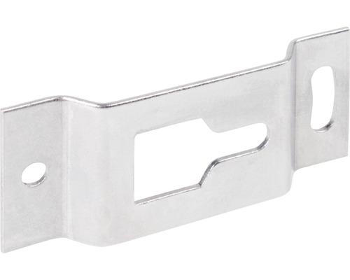 Tôle de fixation pour volets 75 x 32 mm acier inoxydable 50 pièces