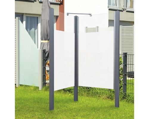 Douche de jardin Breuer Exo 2 côtés 95 x 200 cm Intima profilé gris