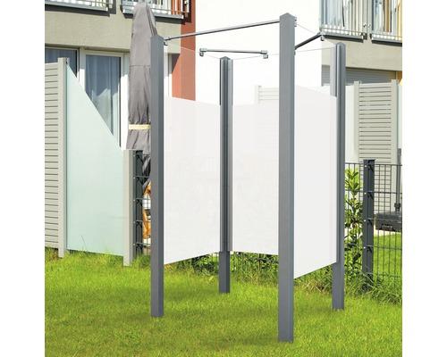 Douche de jardin Breuer Exo 3 côtés 95 x 200 cm Intima profilé gris