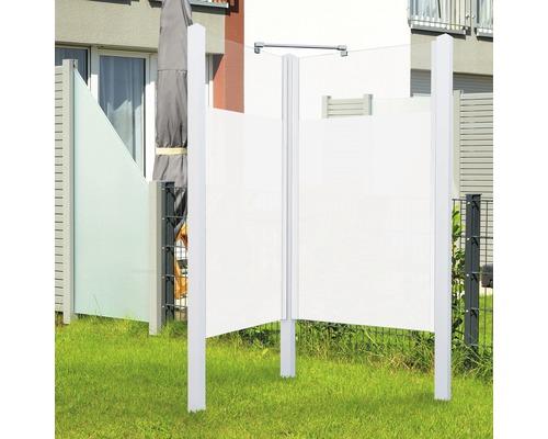 Douche de jardin Breuer Exo 2 côtés 95 x 200 cm Intima profilé blanc