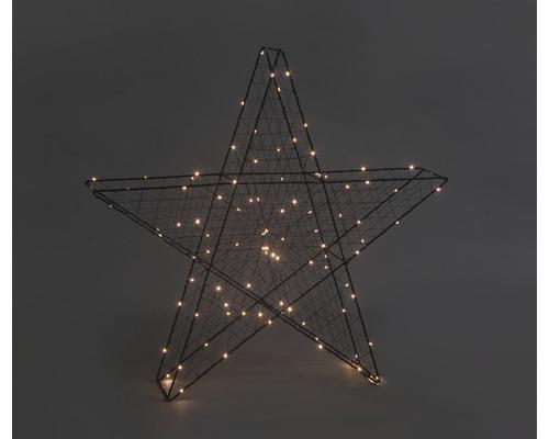Étoile 3D 100 LED Lafiora 63 x 11 x 63 cm intérieur blanc chaud avec fonction de minuterie-0