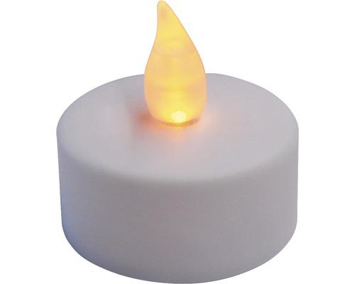 Lot de 2 bougies de chauffe-plat à LED Ø 3,8 cm couleur d''éclairage blanc chaud avec minuterie