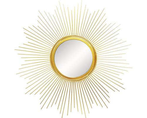 Spiegel Metall Sonne gold 50cm