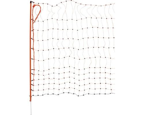 Filet à volaille pointe unique électrifiable 50 m x 112 cm orange