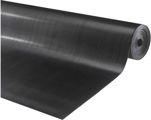 Tapis en caoutchouc Alfa noir, largeur 100 cm (par mètre)