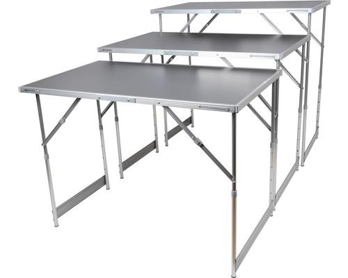Table à tapisser multifonction réglable en hauteur gris 3 x 1 m 3 pces