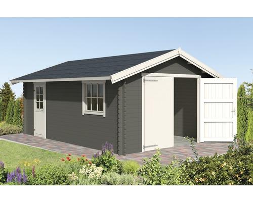 Garage simple Yarik 540 x 380 cm gris carbone