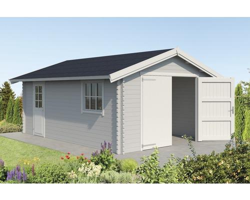 Garage simple Yarik 540 x 380 cm gris clair