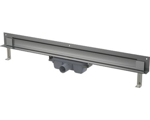 Duschrinne SPA Twin APZ5-Twin-1050 für Einbau in die Wand und Beleuchtbar edelstahl
