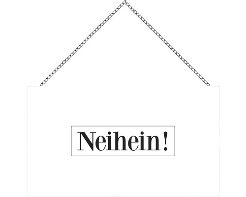 Panneau en bois avec chaîne Neihein 23x13 cm