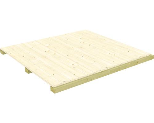 Plancher 1,5 m² 150 x 150 cm naturel