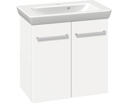 Ensemble de meubles de salle de bains Multo blanc mat largeur 65 cm