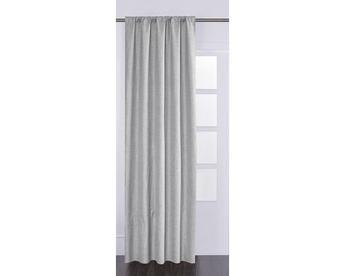 Rideau avec galon fronceur Blackout gris 135x280 cm