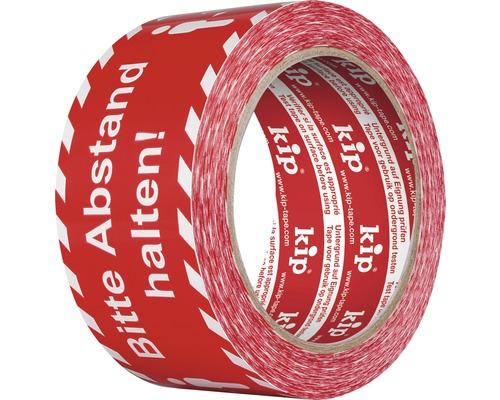 Warnband Markierungsband Abstand halten! weiß rot 50 mm x 60 m