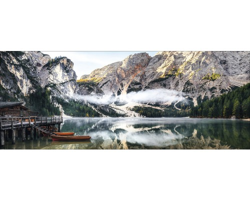 Tableau en verre Mountain Lake View 50x125cm