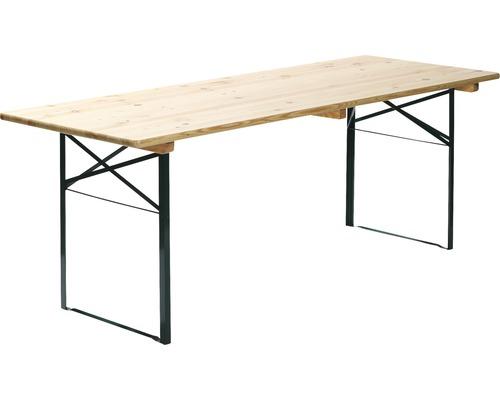 Table de brasserie VEBA 220 x 50 cm vert marron