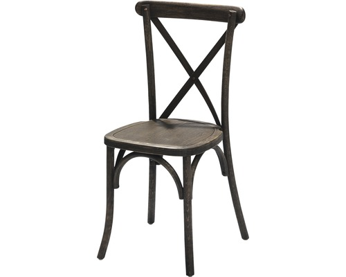 Chaise VEBA Crossback en bois marron