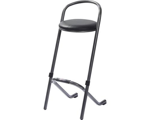Chaise de bar VEBA effet martelé en acier noir