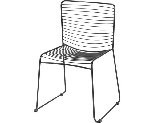 Chaise en fils d''acier VEBA noir