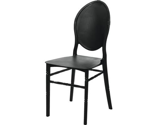 Chaise empilable VEBA Medaillon en plastique noir