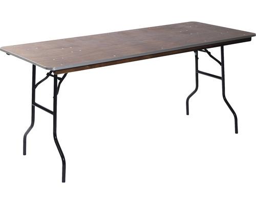 Table de salle à manger VEBA 220 x 76 cm métal marron