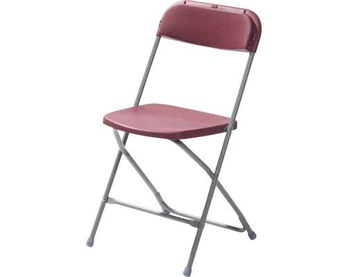 Chaise pliante VEBA Budget en acier gris rouge