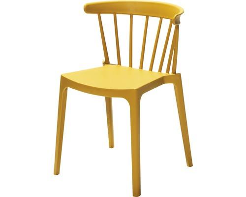 Chaise empilable VEBA Windson en fibre de verre jaune