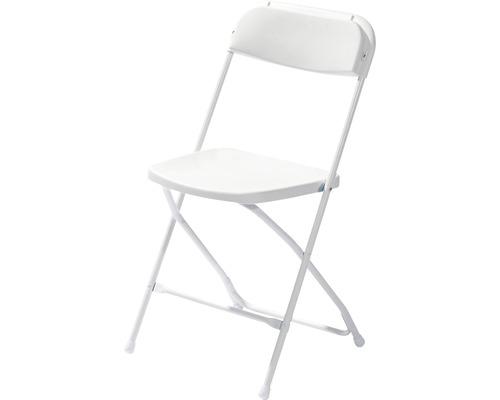 Chaise pliante VEBA Budget en acier blanc