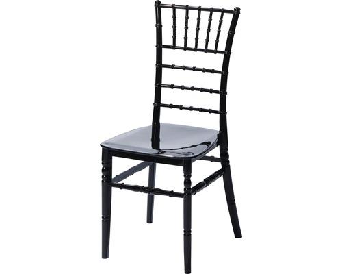 Chaise de mariage VEBA Tiffany plastique noir
