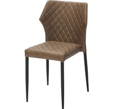 Chaise gastro VEBA Louis acier marron-thumb-0