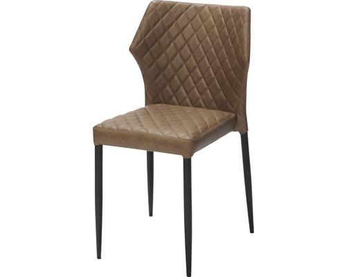 Chaise gastro VEBA Louis acier marron