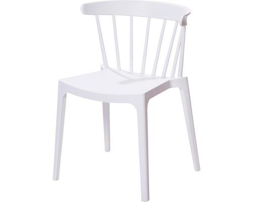 Chaise empilable VEBA Windson dossier à la verticale fibre de verre blanc