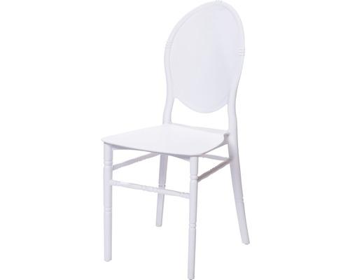 Chaise empilable VEBA Medaillon en fibre de verre blanc