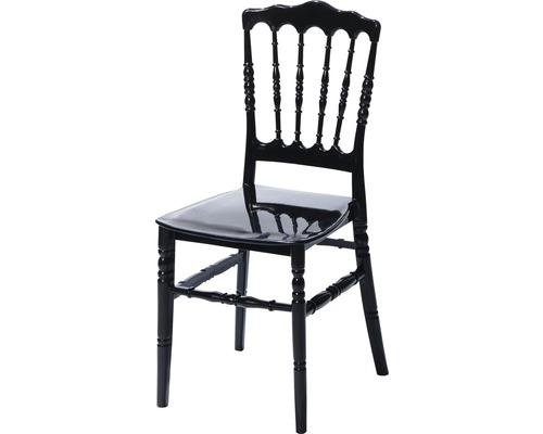 Chaise de mariage VEBA Napoleon plastique noir
