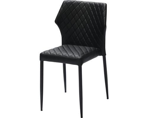 Chaise empilable VEBA Louis en acier noir