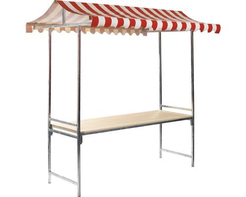 Stand de marché VEBA Professional 1,44 m²215 x 70 cm rouge blanc