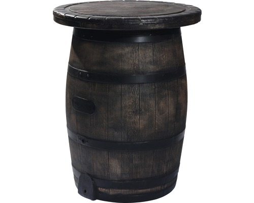 Table haute VEBA Barrel en plastique marron