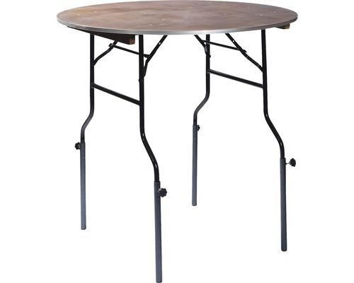 Table de salle à manger VEBA avec pieds réglables en métal noir