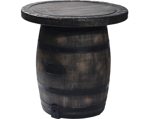 Table de bar VEBA Barrel en plastique marron