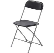 Chaise pliante VEBA Budget acier gris noir-thumb-0