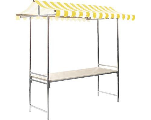 Stand de marché VEBA Professional 1,44 m²215 x 70 cm, jaune blanc