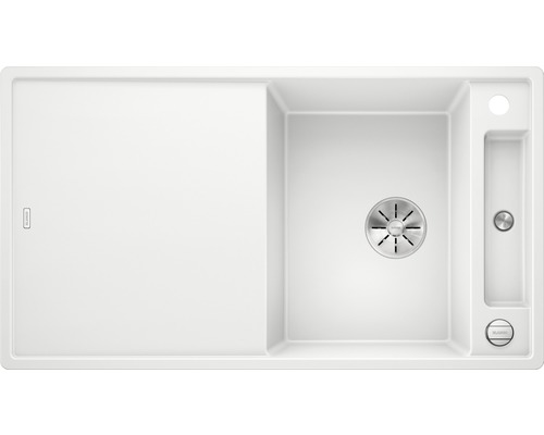 Küchenspüle BLANCO AXIA III 5 S weiß 523209 inkl. Holzschneidbrett