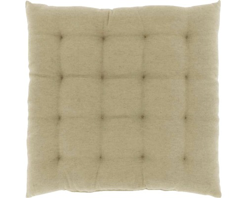 Galette de chaise Lysa beige 40x40 cm