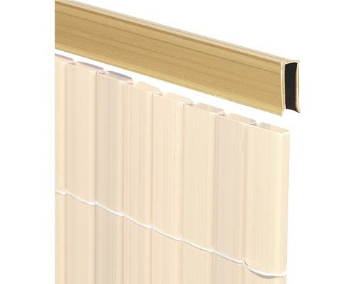 Profilé de recouvrement en U PVC 150 cm teck
